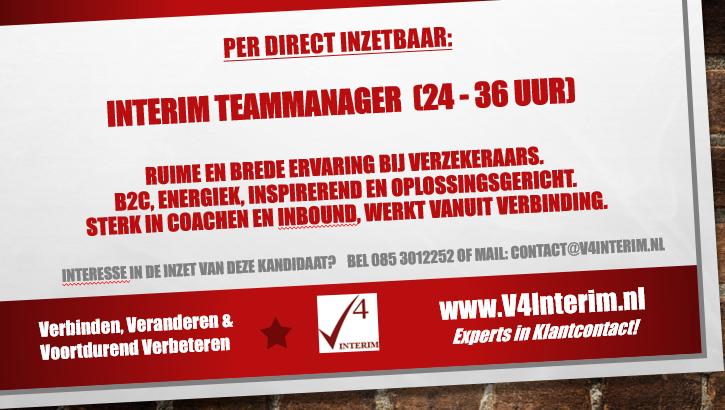 Interim Teammanager 24-36uur