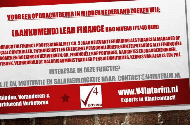 Teamleider Finance en Administratie
